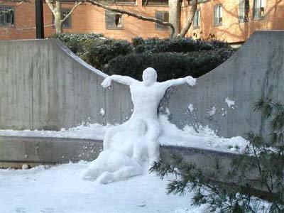 1 very happy snowman