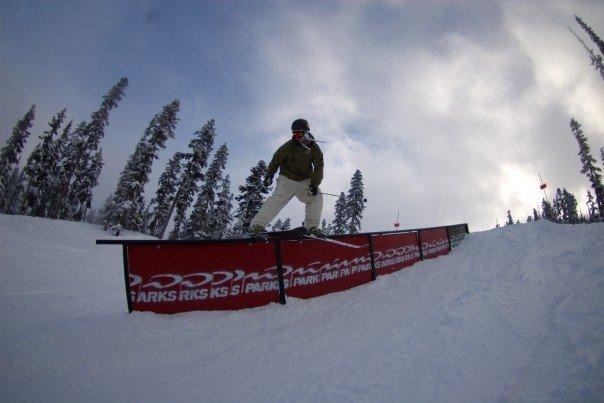 Down rail at Whisler