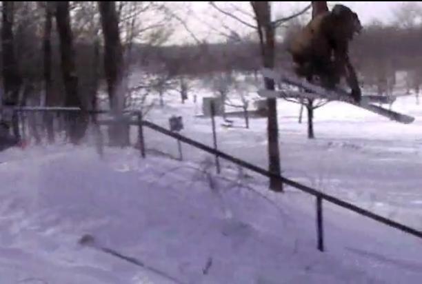 Jump over the rail