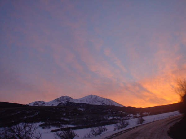 Sopris sunset