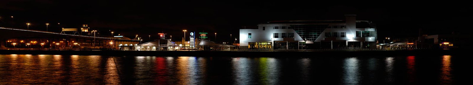 Night river pano 2