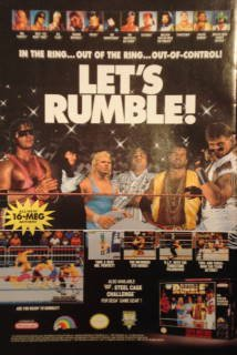 An ad for a wrestling video game
