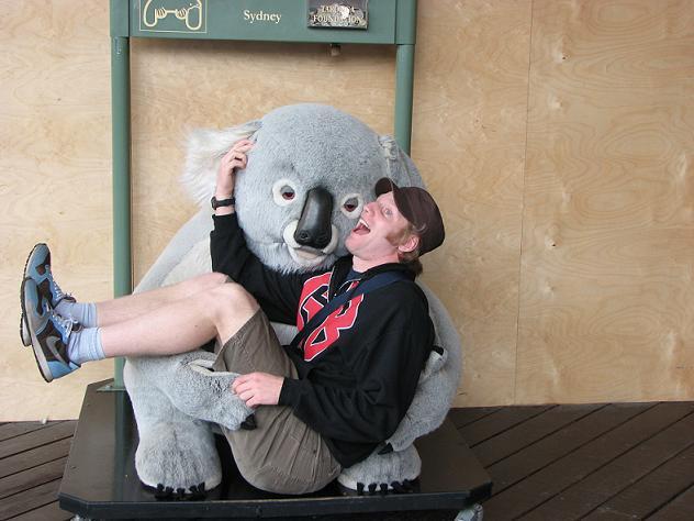 Dave in a koala hug