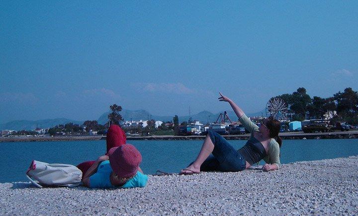 Basking on the Pier