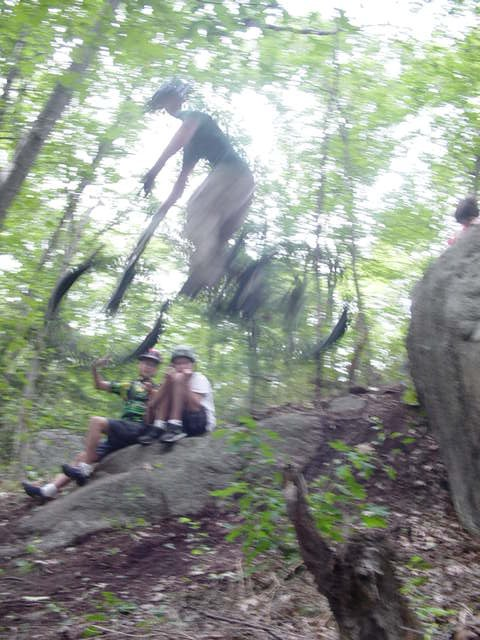Me hucking some cliff
