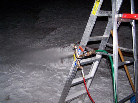 Homemade snowmaking
