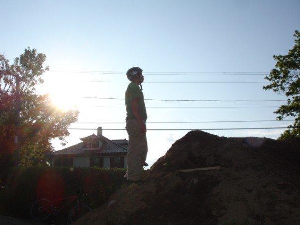 Emo pic at a dirt jump