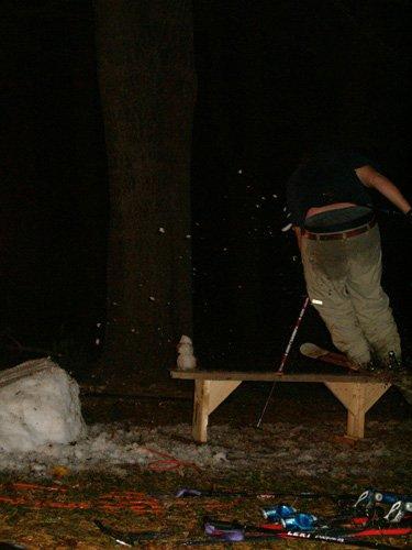 Snowman hop