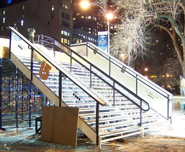 Full stair setup, Union square railjam