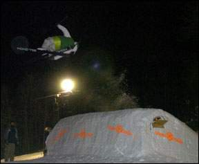 My big air jump at snowtrails