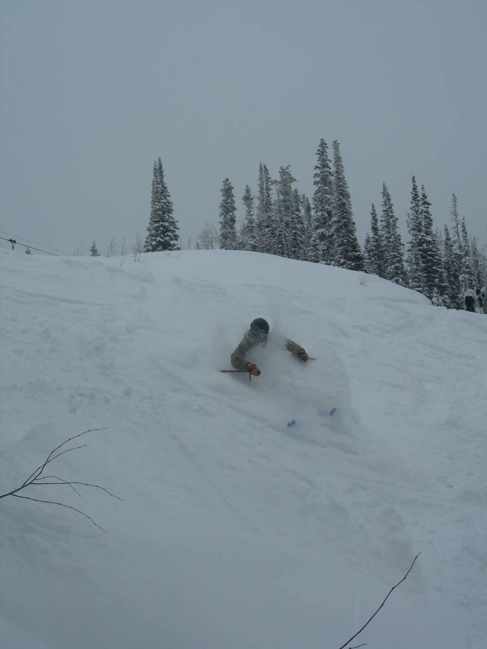 Troy skiing lots of fresh