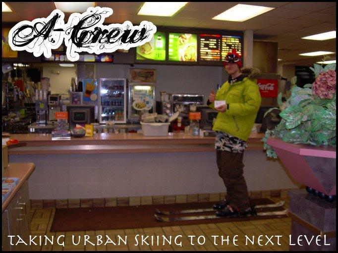 Urban skiing fo realzies