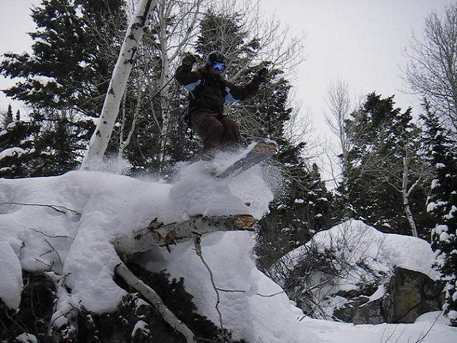 Riding a downed Tree