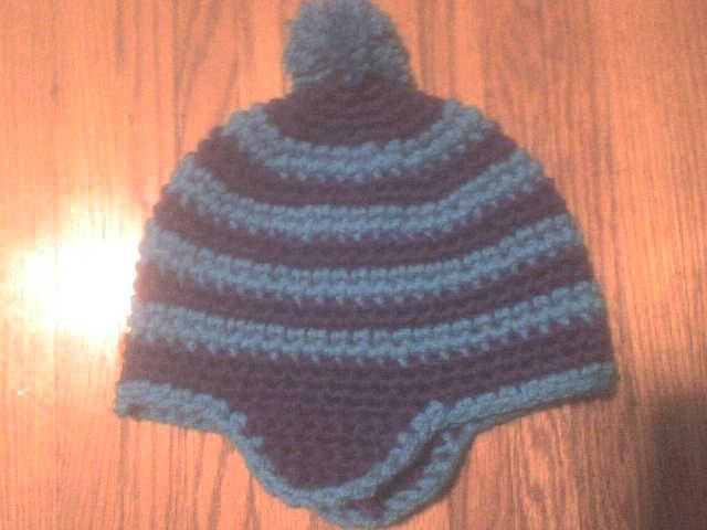Purple blue hat