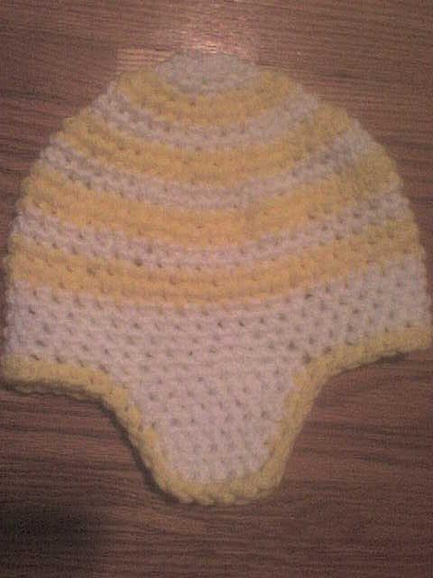 Yellow white hat
