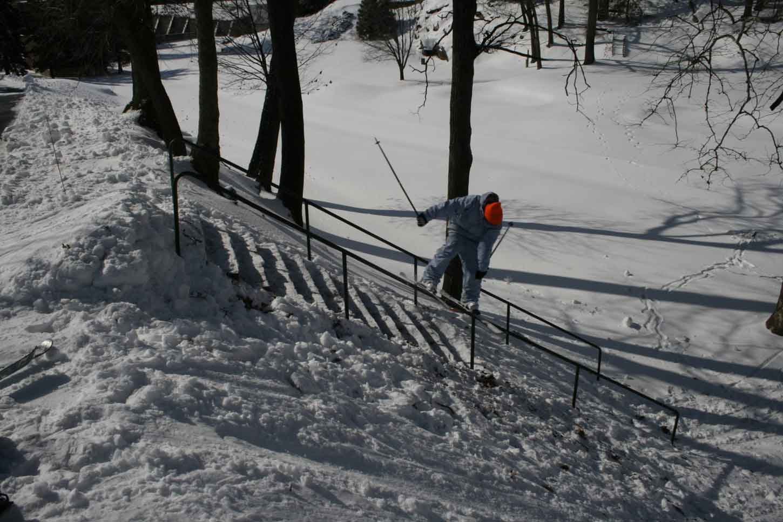Steep little handrail