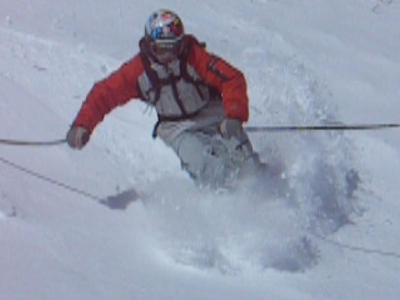 Pow Turn, Surface Skis