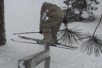 Wooden kink hand rail