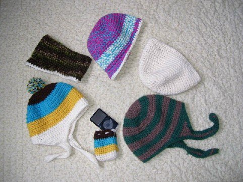 Hats, headband, and ipod case
