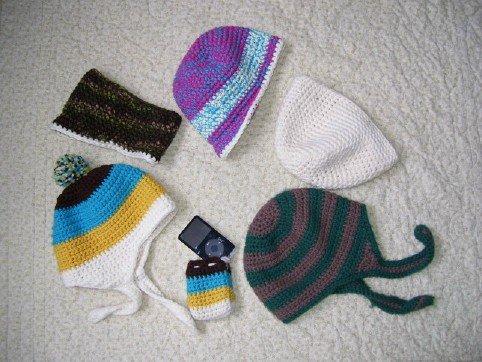 Hats, headband, and ipod case