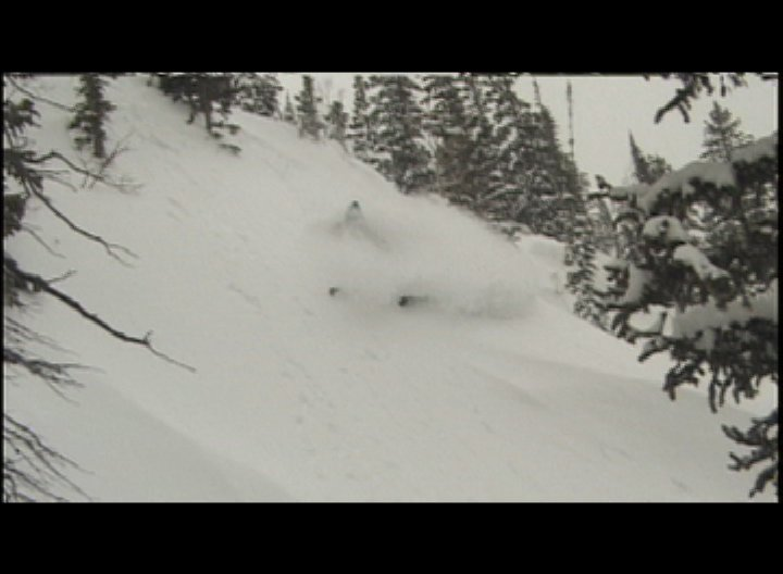 Dropping into the chute