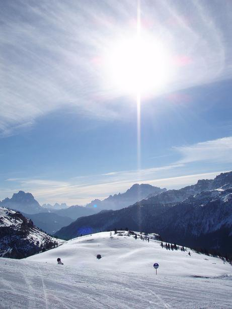 Sun & Sella mountains