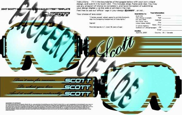 My scott goggle design