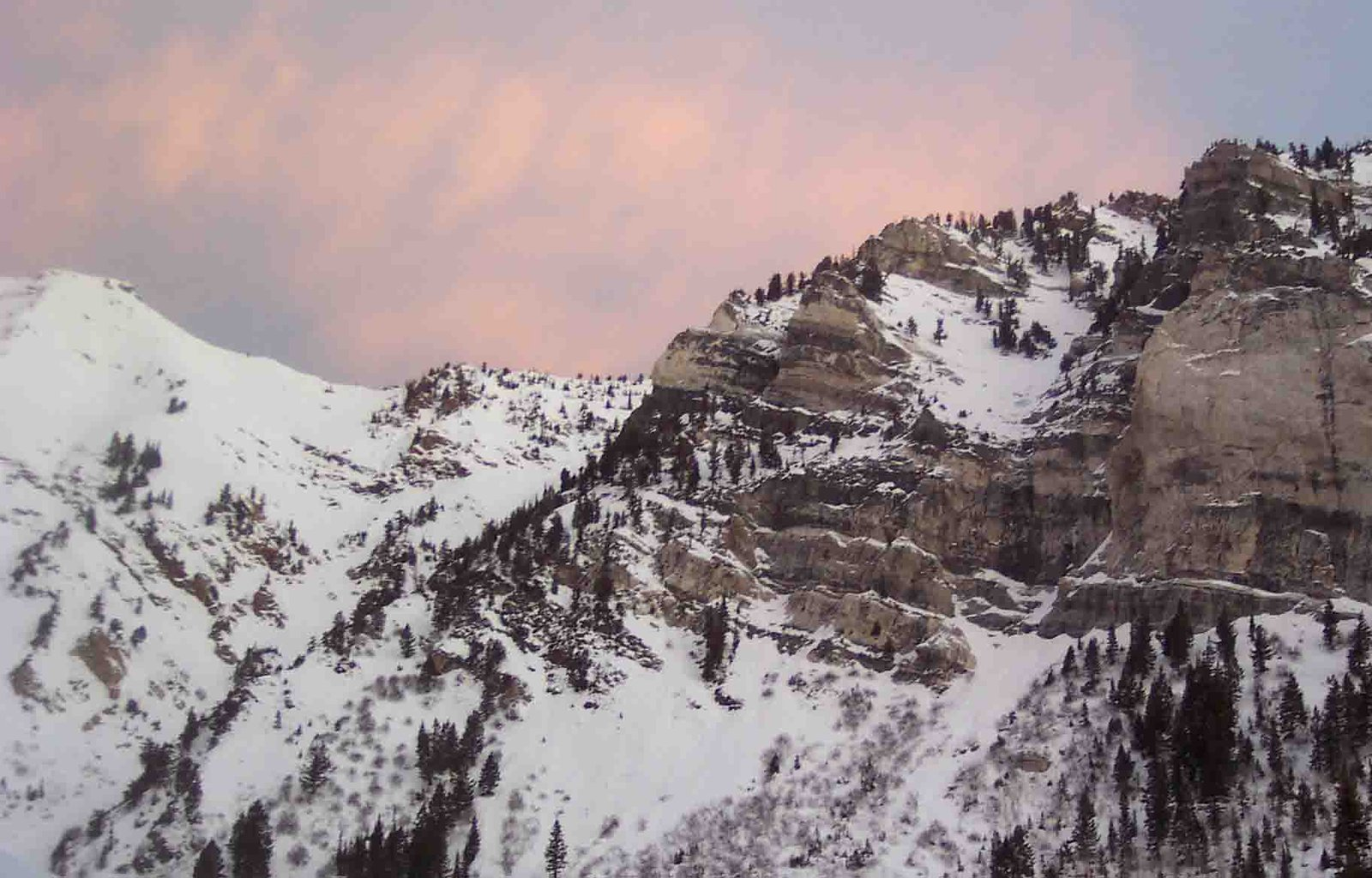 Pink over Mountain