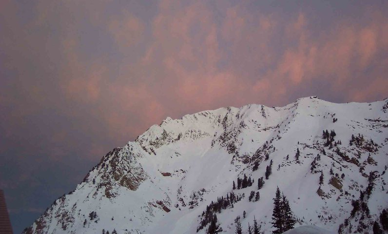 Pink Glow over Mountain