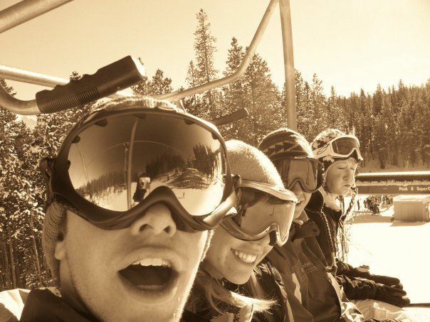 Dustin, Me, Jake and Sarah on the lift