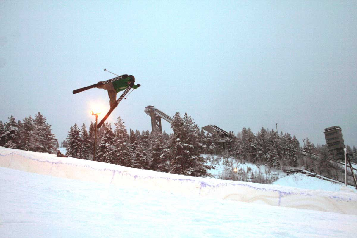 """Nosegrab in the """"best"""" pipe in finland"""
