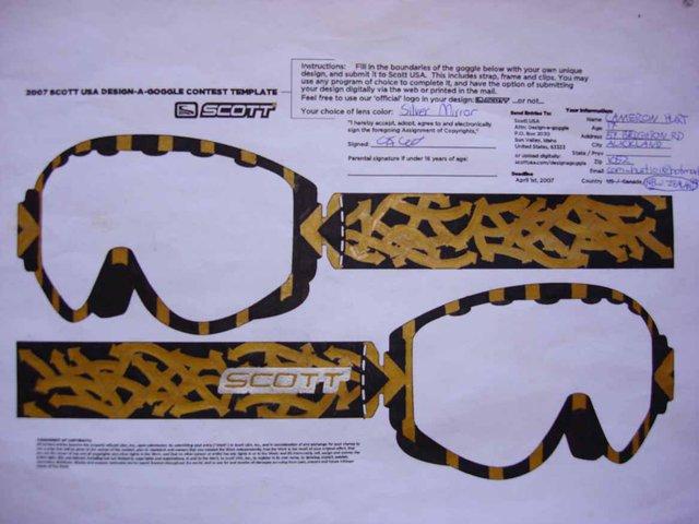 Goggle design