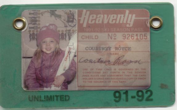 My 1st ski pass.. 3 years old