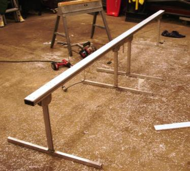 Homemade Portable  Railslide