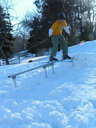 Homemade Portable Railslide- Trying it out!