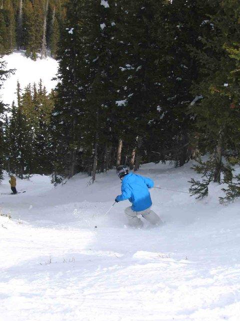 Moderately Steep moderately narrow chute