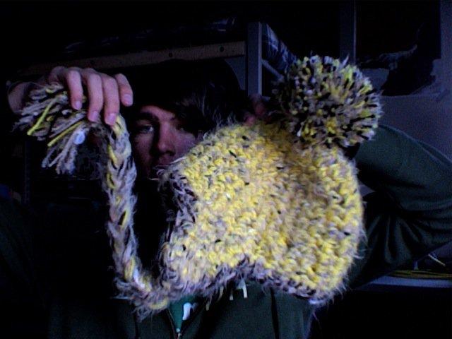 Crazy fluffy hat