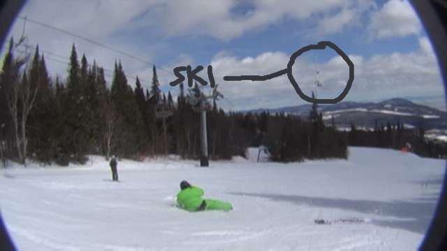 Notice the ski