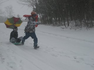 Most retarted sledding ever but EPIC