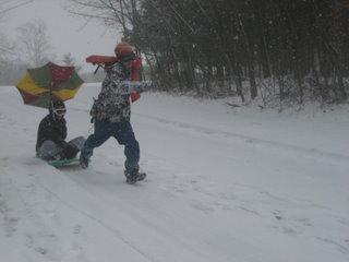 Most retarted sledding ever but EPIC
