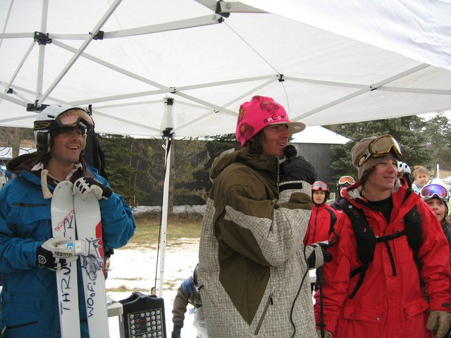 Seth,Pete,and Sammy at snowtrails jib academy