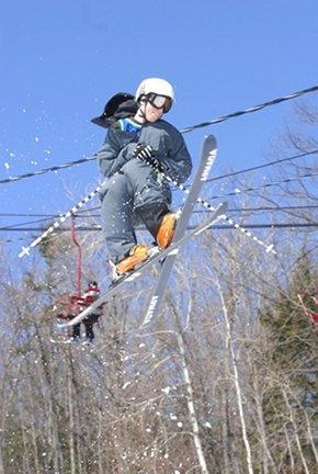 Skiing makes me smile