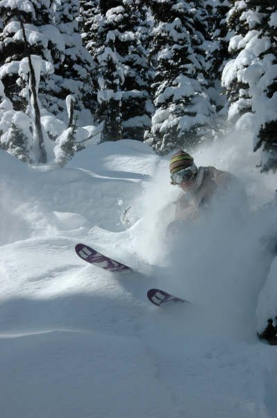 April pow skiing 3
