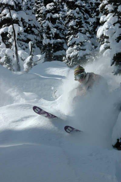 April pow skiing 3