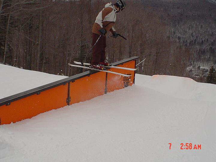 Up rail at loon. (other angle)