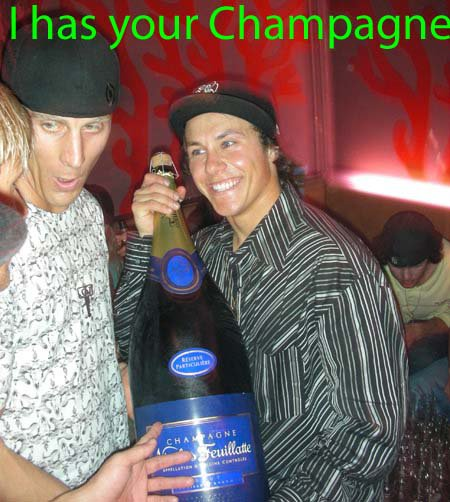 I has your Champagne