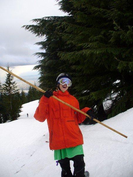 Kung-foo skier yo