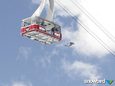 Base Jumping Out Of Snowbirds Tram