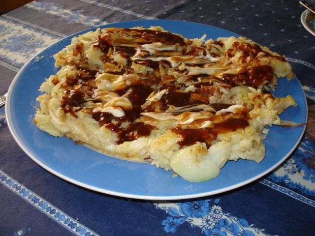 Finished okonomiyaki!!