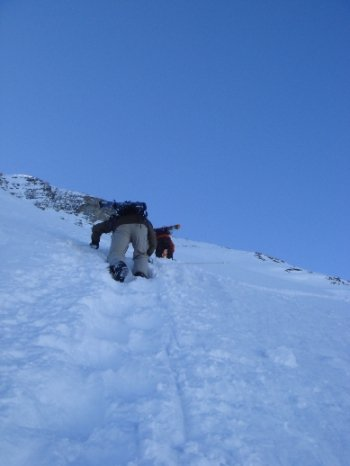 Steep hiking